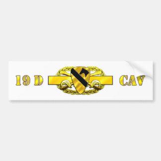 19D 1st Cavalry Division Car Bumper Sticker