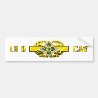 19D 4th Infantry Division Bumper Sticker