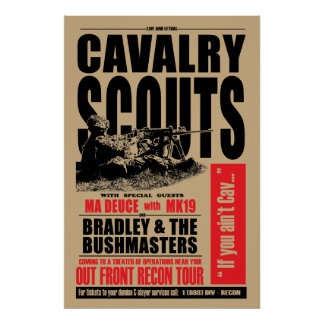 19D Cav Scout, Concert style poster