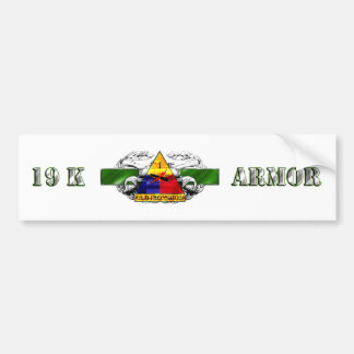 19K 1st Armored Division Car Bumper Sticker
