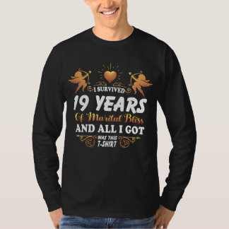 19th Anniversary Shirt For Husband Wife.
