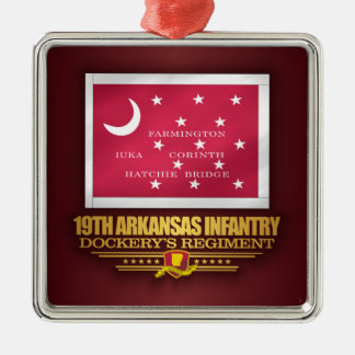 19th Arkansas Infantry (F10) Metal Ornament