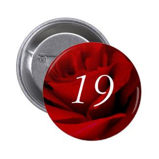 19th Birthday 6 Cm Round Badge