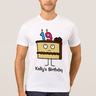 19th Birthday Cake with Candles T-Shirt