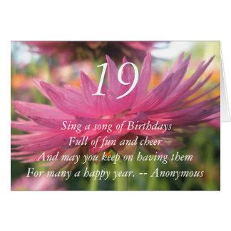 19th Birthday Card