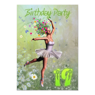 19th Birthday party invitation