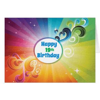 19th Birthday Religious Card Rainbow Blessings