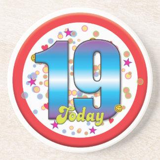 19th Birthday Today v2 Coasters