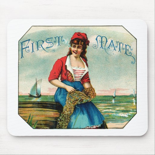 19th C. First Mate Cigars Mouse Pad