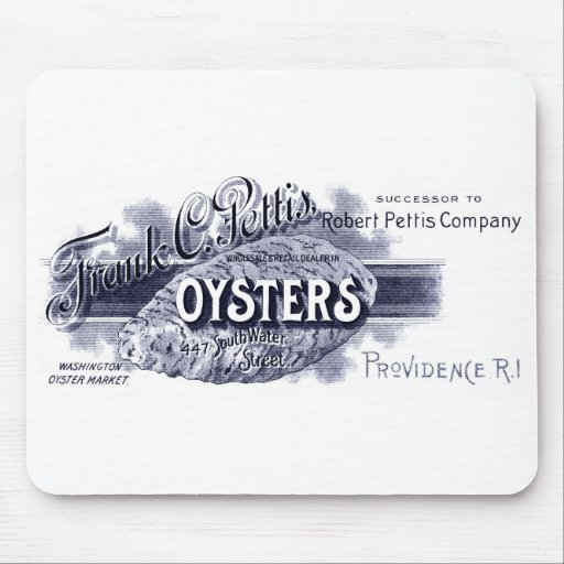 19th C. Oysters, blue Mouse Pad
