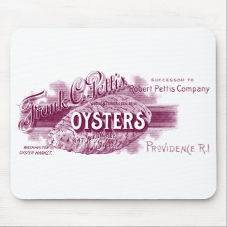 19th C. Oysters, purple Mousepad