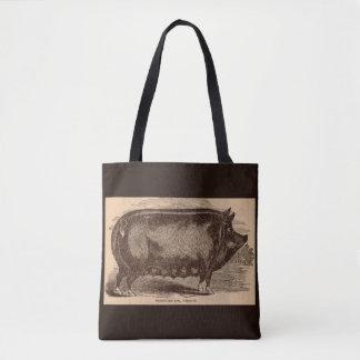 19th century farm animal print Berkshire sow breed Tote Bag