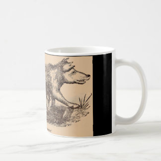 19th century farm animal print pigs print coffee mug