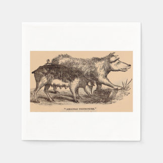 19th century farm animal print pigs print disposable serviette