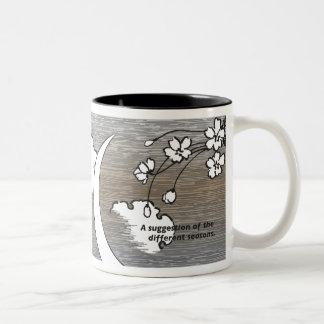 19th Century Japanese Design/Translation, seasons Two-Tone Mug