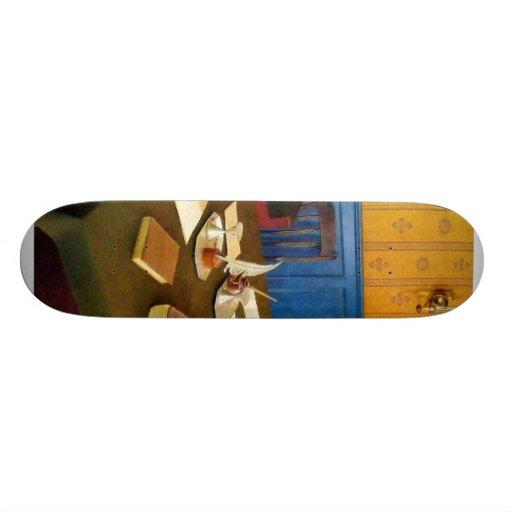 19th Century Lawyer's Office Custom Skate Board