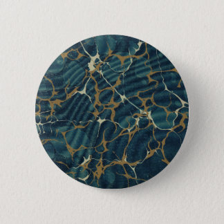 19th century marbled paper2 6 cm round badge