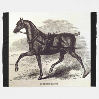 19th century print An English Roadster horse Fleece Blanket