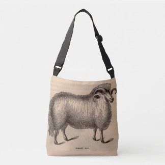 19th century print Dorset ram Crossbody Bag