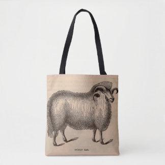 19th century print Dorset ram Tote Bag