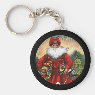 19th Century Saint Nicholas Basic Round Button Key Ring