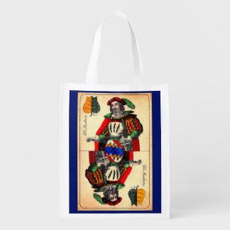 19th century tarot card no. 1 reusable grocery bag