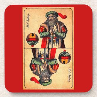 19th century tarot card no. 2 coaster