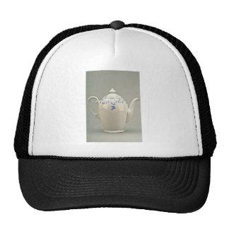 19th century teapot, Berlin, Germany  flowers Mesh Hat