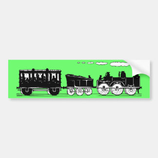 19th Century Train Bumper Sticker