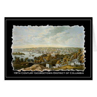 19th Century View of Georgetown, Washington DC Card