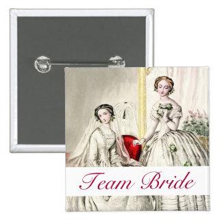 19th Century Wedding 15 Cm Square Badge