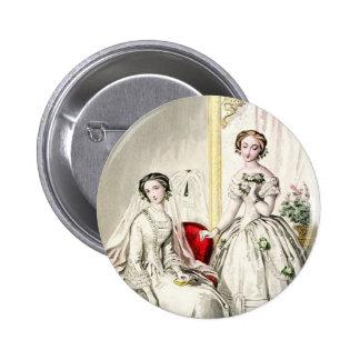 19th Century Wedding_Button 6 Cm Round Badge