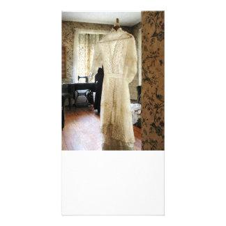 19th Century Wedding Dress Personalized Photo Card