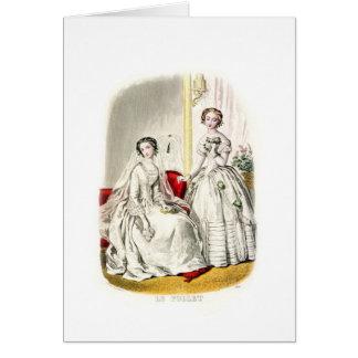 19th Century Wedding Greeting Card