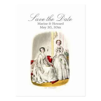 19th Century Wedding Postcard