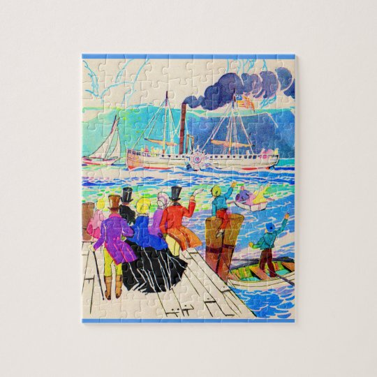 19th century yacht race jigsaw puzzle