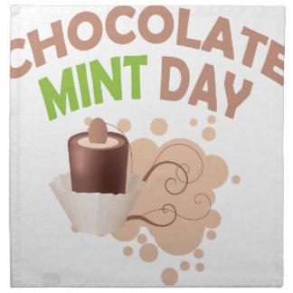 19th February - Chocolate Mint Day Napkin