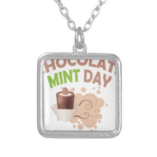 19th February - Chocolate Mint Day Silver Plated Necklace