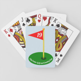 19th Hole and Your Text Playing Cards