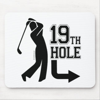 19th Hole (Around Back) Mousepads