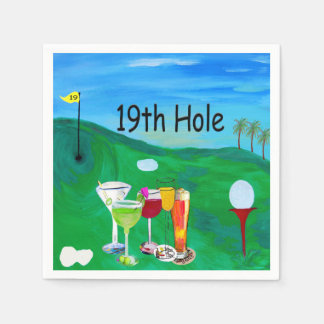 19th hole Golf napkins Paper Napkins