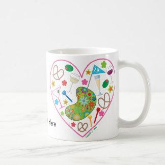 19th Hole Heart Mug