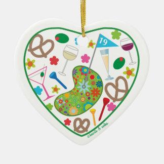 19th Hole Heart Ornament