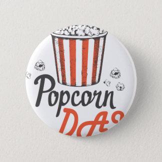 19th January - Popcorn Day - Appreciation Day 6 Cm Round Badge