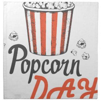 19th January - Popcorn Day - Appreciation Day Napkin