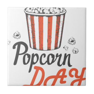 19th January - Popcorn Day - Appreciation Day Tile