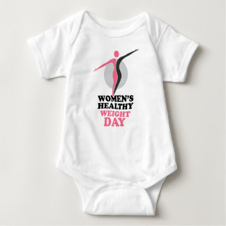 19th January - Women's Healthy Weight Day Baby Bodysuit