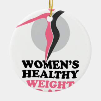19th January - Women's Healthy Weight Day Round Ceramic Decoration