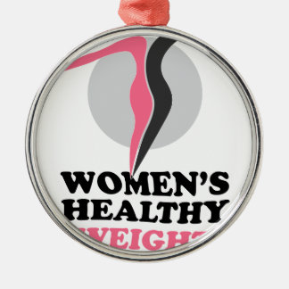 19th January - Women's Healthy Weight Day Silver-Colored Round Decoration