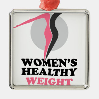 19th January - Women's Healthy Weight Day Silver-Colored Square Decoration